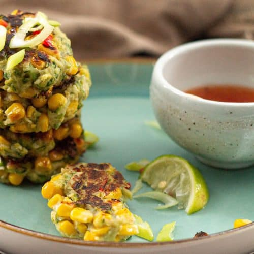 Easy Vegan Sweetcorn and Coconut Fritters