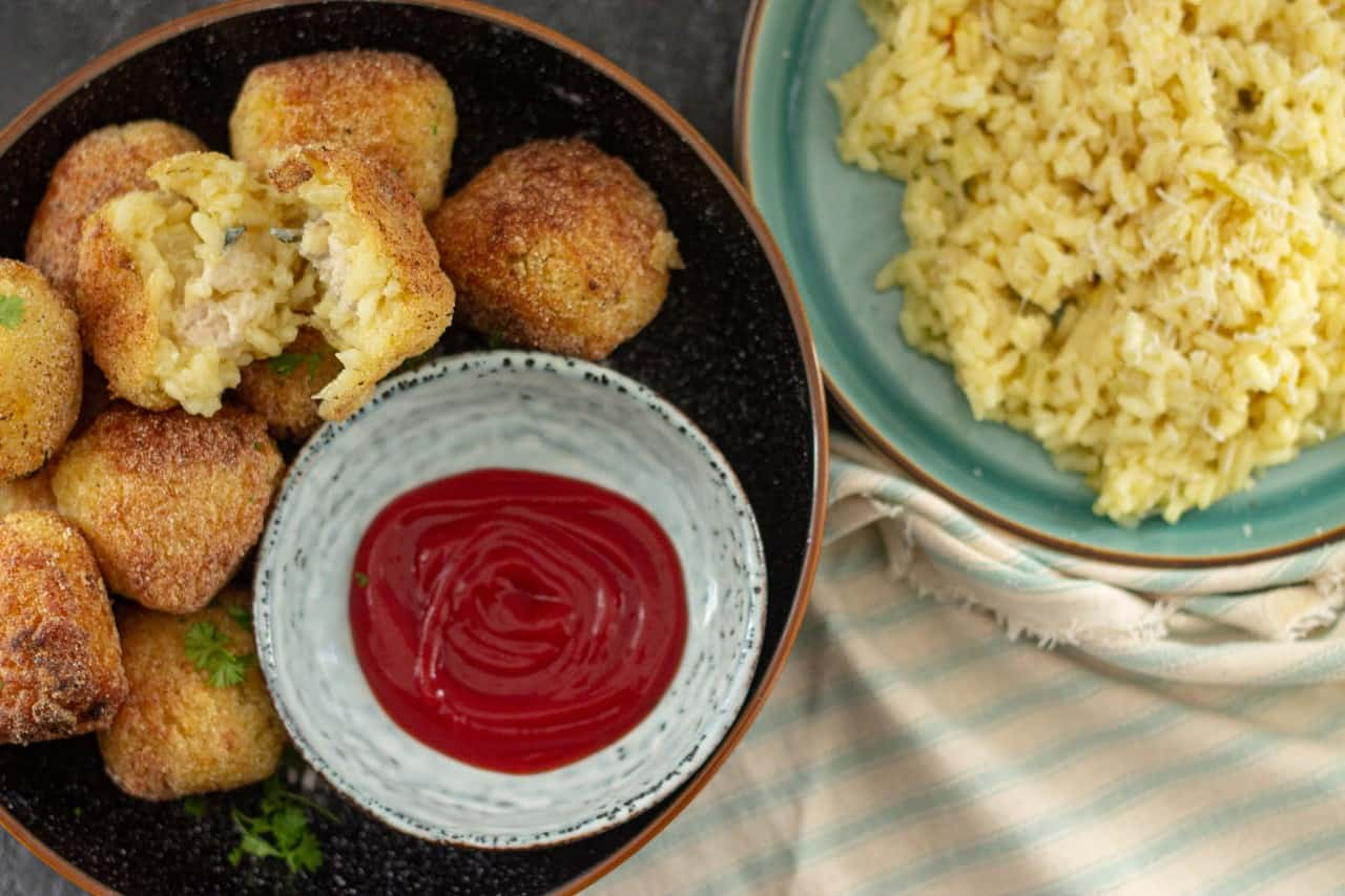 How to Make Vegan Arancini With Leftover Risotto